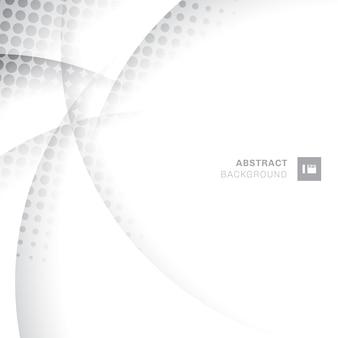 Abstracte grijze kromme cirkel achtergrond.