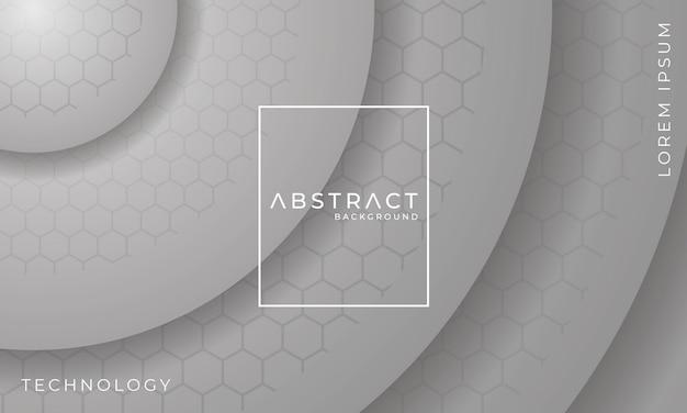 Abstracte grijze technische achtergrond met zeshoek schaduweffect