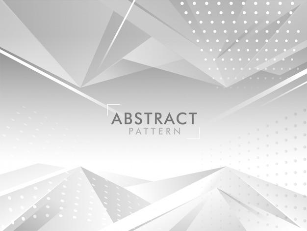 Abstracte grijze veelhoek achtergrond met stippen patroon.