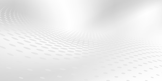 Abstracte grijze witte achtergrond met dynamische golven. technologie