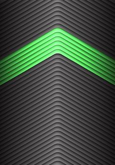 Abstracte groen op grijze het patroonachtergrond van de metaalpijl.