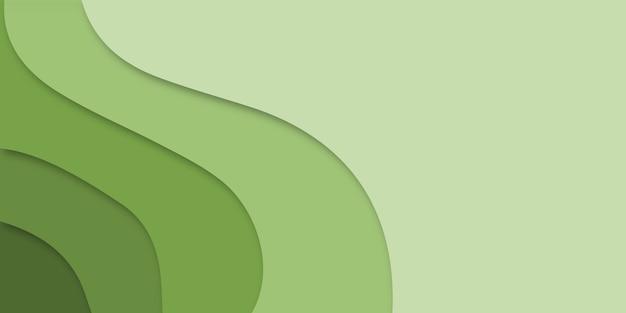 Abstracte groene achtergrond in papier gesneden stijl