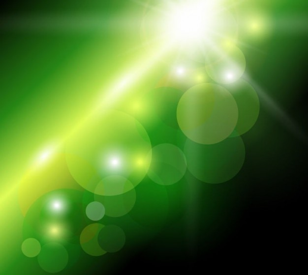 Abstracte groene bokeh achtergrond