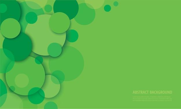 Abstracte groene cirkelachtergrond