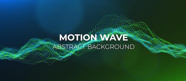 Abstracte groene en blauwe deeltjes achtergrond digitale gegevensstructuur toekomstige mesh of geluidsraster