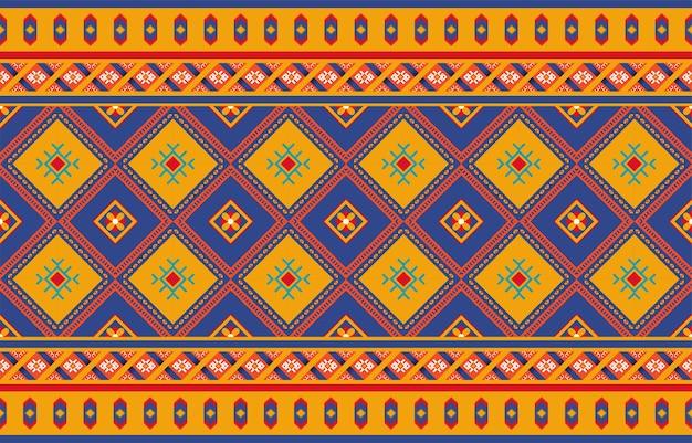 Abstracte groene geometrische inheemse naadloze patroonachtergrond