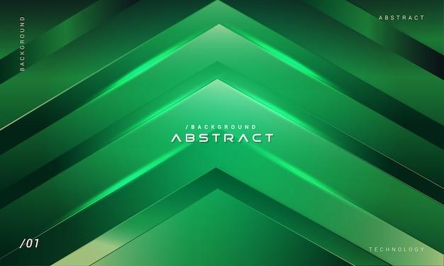 Abstracte groene geometrische technologie achtergrond
