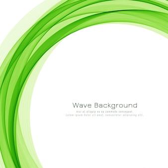 Abstracte groene golf elegante achtergrond