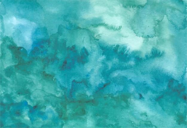 Abstracte groene golven aquarel achtergrond hand schilderij