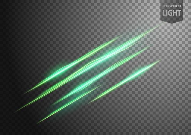 Abstracte groene golvende lijn van licht