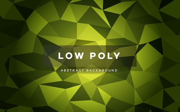 Abstracte groene laag poly kristal achtergrond.