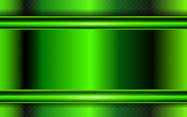 Abstracte groene metaalvormenachtergrond