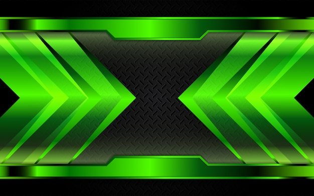 Abstracte groene metalen vormen op donkere achtergrond
