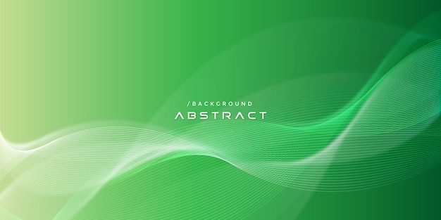Abstracte groene moderne golvende lijnen achtergrond