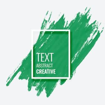 Abstracte groene penseelstreek achtergrond