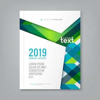 Abstracte groene strepen lijn vorm ontwerp op een witte achtergrond voor het bedrijfsleven jaarverslag boekomslag brochure flyer poster