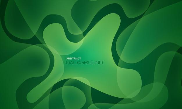 Abstracte groene vloeistof vloeibare geometrische ontwerp creatieve technologie futuristische achtergrond vector