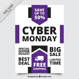 Abstracte grote deals cyber maandag brochure