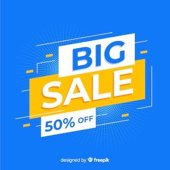 Abstracte grote verkoop promotie banner