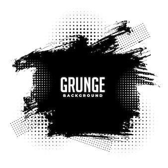 Abstracte grunge halftone splatter textuur achtergrondontwerp