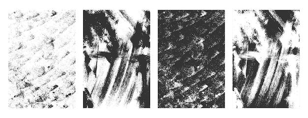 Abstracte grunge noodlijdende muur textuur overlay achtergrond set