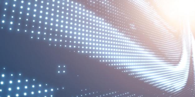 Abstracte halftonachtergrond met glanzend licht