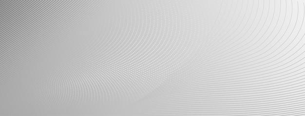 Abstracte halftone achtergrond van kleine stippen en golvende lijnen in grijze en witte kleuren