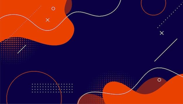 Abstracte halftone achtergrond van memphis met vloeiende vormen