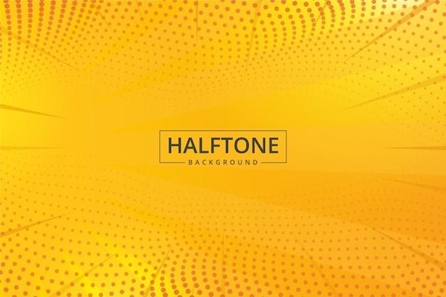 Abstracte halftone gele tinten als achtergrond