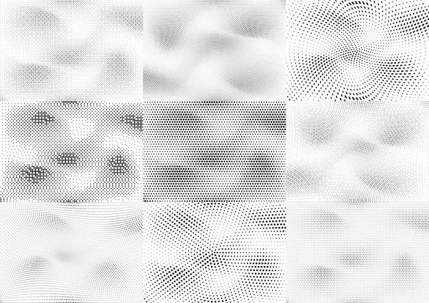 Abstracte halftone gestippelde grunge patroon textuur. retro komische popachtergrond. vector moderne grunge achtergrond voor posters, sites, visitekaartjes, ansichtkaarten, interieur.