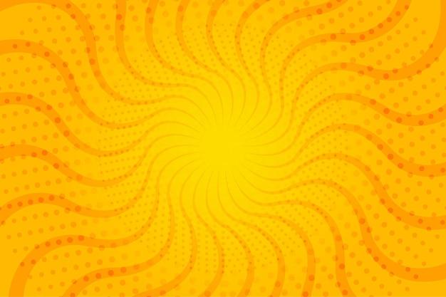 Abstracte halftone golvende zonnestralen als achtergrond