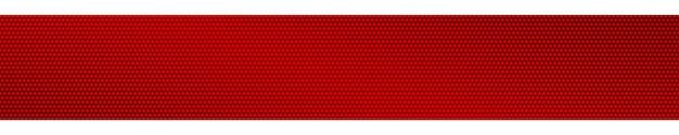 Abstracte halftone gradiënt horizontale banner in rode kleuren
