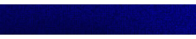 Abstracte halftone gradiënt horizontale banner in willekeurig blauwe tinten