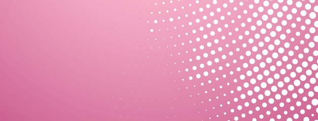 Abstracte halftone ontwerp moderne roze banner