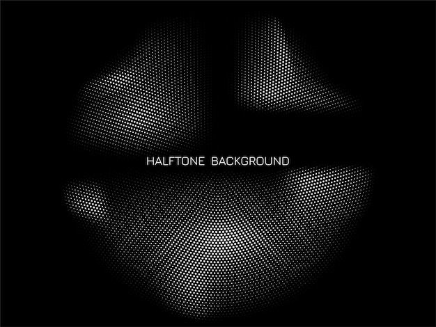Abstracte halftone ontwerp zwarte achtergrond