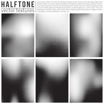 Abstracte halftone texturen vector set