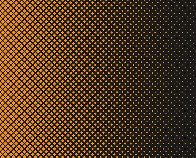 Abstracte halftoon gestippelde achtergrond decoratieve print monochroom patroon met vierkanten