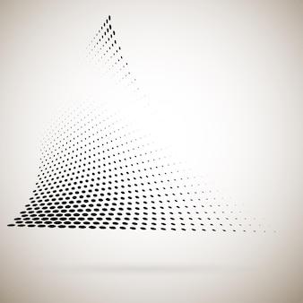 Abstracte halftoonstippen met schaduw