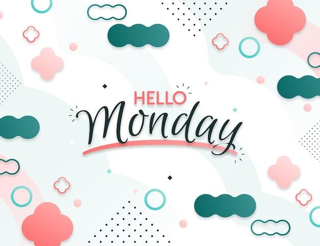 Abstracte hallo maandag achtergrond