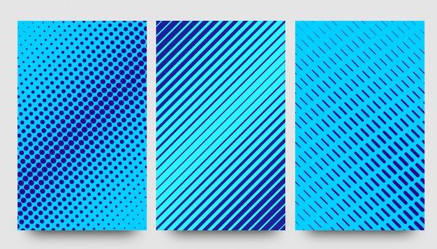 Abstracte halve patroon blauwe achtergronden