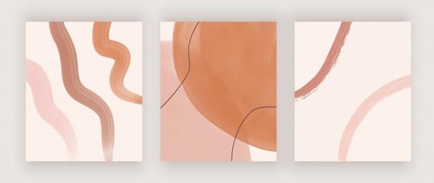 Abstracte halverwege de eeuw ontwerp achtergronden met aquarel vormen