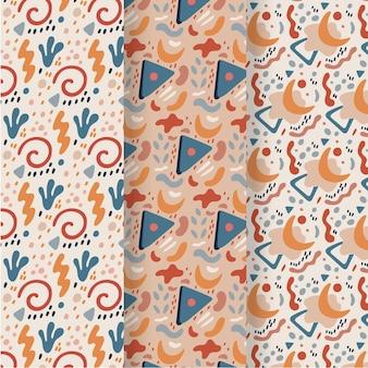Abstracte hand getekend patroon collectie