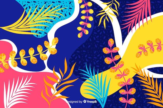 Abstracte hand getekend tropische achtergrond