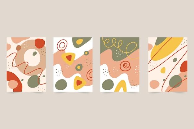 Abstracte hand getekende vormen omvat collectie