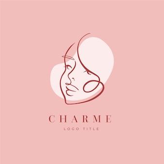 Abstracte hand getrokken vrouw logo avatar
