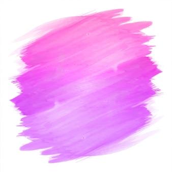 Abstracte hand tekenen lijn roze aquarel ontwerp