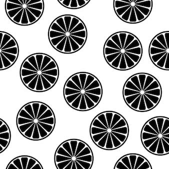 Abstracte handgemaakte citrus rondes naadloze patroon achtergrond. kinderachtig handgemaakt behang voor ontwerpkaart, babyluier, luier, cafémenu, vakantiepapier, tasprint, t-shirt enz.