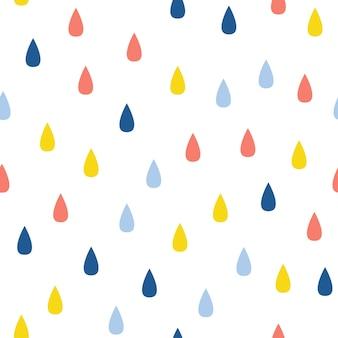 Abstracte handgemaakte drop naadloze patroon achtergrond. kinderachtig handgemaakt behang voor ontwerpkaart, babyluier, luier, plakboek, vakantiepapier, textiel, tasafdruk, t-shirt enz.