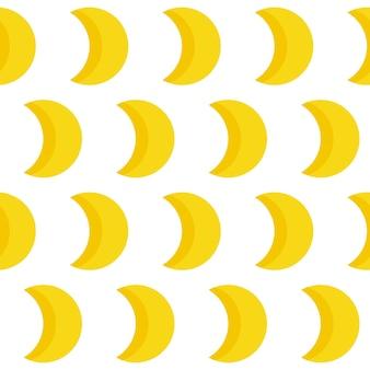 Abstracte handgemaakte maan naadloze patroon achtergrond. handgetekende omslag voor ontwerpcadeaubon, verjaardagsbehang, album, plakboek, vakantie-inpakpapier, tasafdruk, t-shirt, babyluier enz.