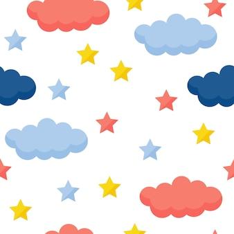 Abstracte handgemaakte naadloze patroon achtergrond. handgetekende omslag voor ontwerpcadeaubon, verjaardagsbehang, album, plakboek, vakantie-inpakpapier, tasafdruk, t-shirt, babyluier enz.